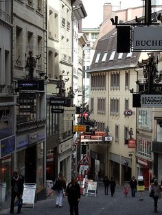 Rue de Bourg, Lausanne, Switzerland I remember Ian and I getting lost here haha! How many times I walked this street. The Places Youll Go, Places To See, Places Ive Been, Lausanne, Winterthur, Zermatt, Geneva Hotel, Switzerland Bern, European Travel