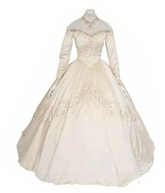 The fine silk beaded gown will go up for auction on June 26.