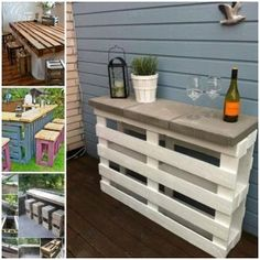 DIY Pallet Wine Bar