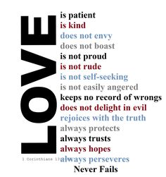 """""""Love is Patient, Love is Kind"""""""