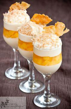 Pineapple Vanilla Panna Cotta