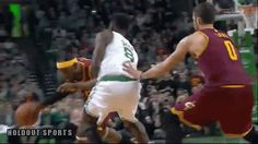 Did LeBron James elbow Jeff Green in the groin? (Video / GIF) by Holdout Sports
