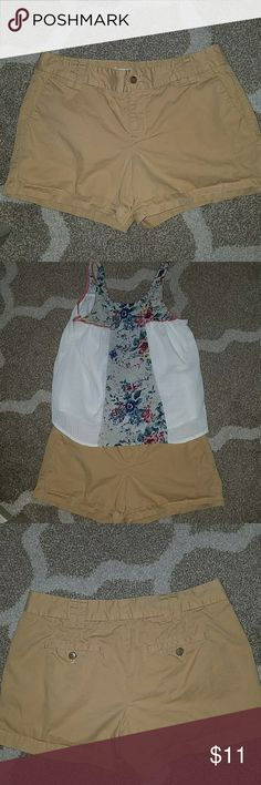 "Ann Taylor Loft khaki shorts These cute Loft shorts are in great shape. 100% cotton. 3.5"" inseam. LOFT Shorts"