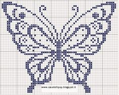 Image result for corner cross stitch patterns butterfly