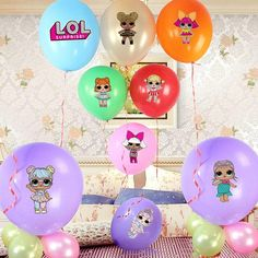 L.O.L Surprise Dolls - Character Balloon Premium Stickers Decorate your balloons with these pre-cut self adhesive stickers. Just peel and stick! These stickers are a unique addition for your party for that extra touch! || ABOUT THIS ITEM || ◆ Handmade item / Made with Love! ◆ LOL