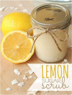 Lemons are in season! Make sure to buy them in bulk and keep them fresh with your FoodSaver® system all summer long. Use them in a number of creative ways, such as this DIY Lemon Sugar Scrub! #DIY #BallJar