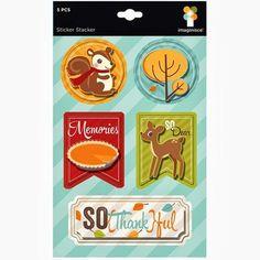 Bushel o' Fall - So Dear 5x7 Sticker Stacker