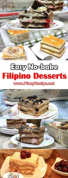 Easy No Bake Filipino Desserts
