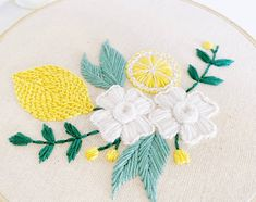 Cactus Embroidery, Hand Embroidery Patterns, Floral Embroidery, Embroidery Stitches, Fruit Pattern, Cute Pattern, Embroidery Supplies, My Etsy Shop, Gifts