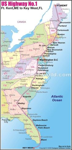 Driving Map of East Coast   26: Some of the benefits to having a ...
