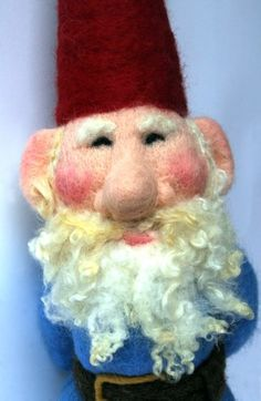 """Needle felted gnome, 18"""" tall, felted from wool"""