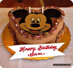 Chocolate Mickey Mouse Cake from the Disneyland Plaza Inn - Disneyland character dining