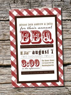 Housewarming Invitation Bbq Invitation Birthday Bbq New House