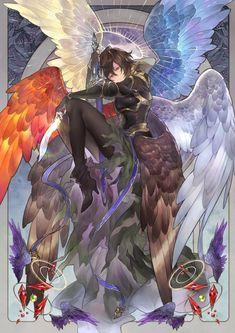 Demon Manga, Manga Anime, Anime Art, Fantasy Character Design, Character Design Inspiration, Character Art, Anime Angel, Fantasy Kunst, Dark Fantasy Art