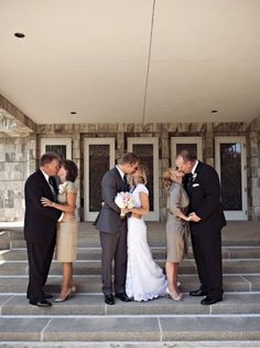I'm so doing this picture. The bride and groom, and then the parents on the side (: