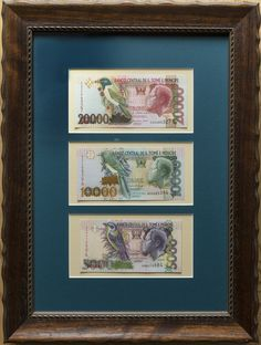 Sao Tome (St. Thomas & Prince) Framed banknote set