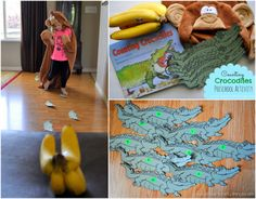 """Counting Crocodiles"" preschool math and reenactment activity from www.iheartcraftythings.com."