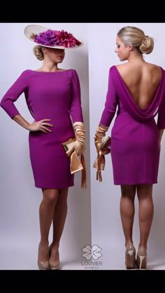 Elegante, sofisticado y femenino!! Nuestro vestido Vanesa en color buganvilla con Pamela y guantes beige. Ideal para convertirte en la invitada perfecta #louvermarbella