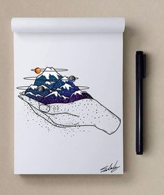 Good night - Stars Themed Illustrations by Muhammed Salah <3 <3