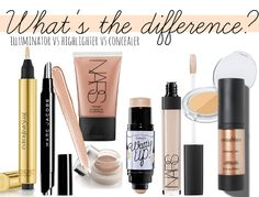 Illuminators, highlighters and concealers... what's the difference?!