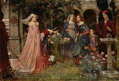 John William Waterhouse / The Enchanted Garden. 1917