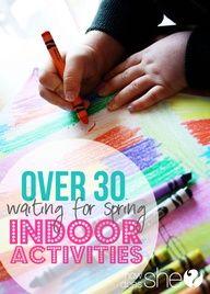 Over 30 indoor Activities  howdoesshe.com  #indooractivities #kids #kidgames