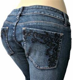 White House Black Market Womens Jeans Size 29 x 34 Blanc Bootcut Blue Denim #WhiteHouseBlackMarket #BootCut