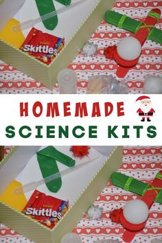 Easy homemade science kit using simple, easily accessible materials. Great for a Christmas or birthday science gift for curious kids #scienceforkids #sciencekits Science Projects, Science Experiments, Make Your Own, Make It Yourself, How To Make, Learning Activities, Activities For Kids, Homemade Christmas, Christmas Gifts