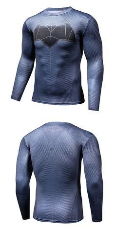 Batman VS Superman T Shirt Tee 3D Printed T-shirts Men Long Sleeve Fitness Cosplay Costume DC Film Slim Fit Tops Male
