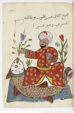 Astrology Manuscript (Pisces), Gallica, BnF