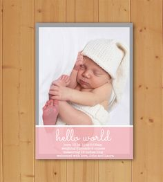 Ready to welcome your little one into the world? This Beautiful Birth Announcement is perfect! Available in Blue and Pink! Completely Customizable and ready to print quickly and easily!