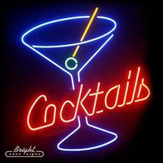 Martini Cocktail Glass Neon Sign