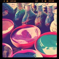 Colorful sand to make #colorful sand bottles #Jordan. #Amman #JO