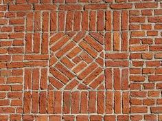 brick pattern, possibly stone in center
