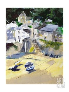 Mousehole, Cornwall, 2005 Giclee Print by Sophia Elliot at Art.com