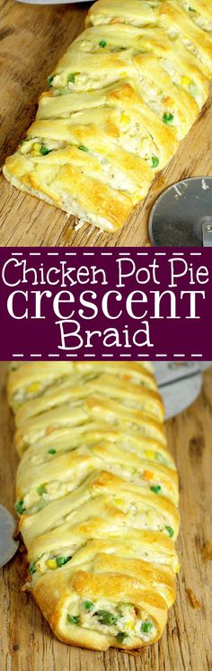 Chicken Pot Pie Crescent Braid has all the classic, warm flavors of a traditional chicken pot pie, served in an elegant, but simple crescent braid. I looove the chicken pot pie filling in this recipe. Perfect for a family dinner.