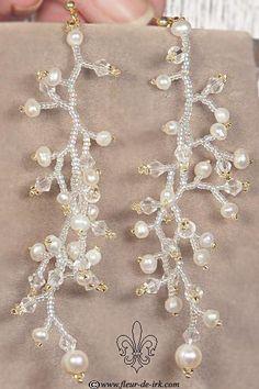 Very long earrings E620 by Fleur-de-Irk on DeviantArt