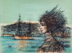 Artwork by Jean Carzou, Sans titre, Made of color lithograph