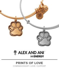 Introducing Alex and Ani Prints of Love bangle.  Companionship.  Love.  Support