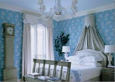 Beautiful bedroom valance and canopy
