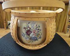 Celebrating Home U0026 Garden Party Floral Stoneware Bean Pot W Lid U0026 Basket