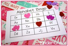 turn regular Bingo into VALENTINE bingo with foam hearts