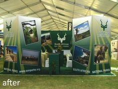 Expo stand design and concept manufacture for SAN Parks @ the GETAWAYshow Expo Stand, Simple Signs, Stand Design, Tvs, National Parks, Behance, African, Concept, Graphic Design