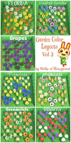 More flower garden combos - AnimalCrossing