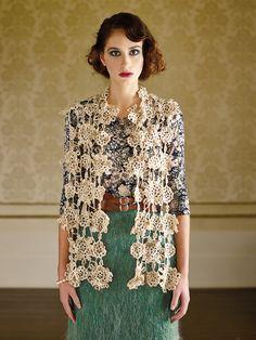 Bhengu (crochet scarf) by Marie Wallin | Knit Rowan #crochet #flower #scarf
