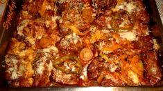 Erről az ételről csak felső fokban tudok szólni! Időtakarékos, mert együtt sül a hús a körettel.Az ízek pedig amik soronként váltakoznak a tepsibe, csodálatos harmóniájú íz kavalkádot alkottak.Lehet, hogy nem annyira mutatós, mint egyes ételek, de az evés közbeni ízek élvezete ezt… Hungarian Recipes, Delicious Dinner Recipes, Garlic Bread, Kfc, Food 52, Food And Drink, Cooking Recipes, Favorite Recipes, Dishes