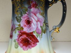 ROYAL MUNICH PITCHER C 1900 HAND PAINTED