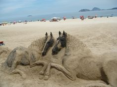 Sand horses, Ipanema Beach