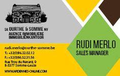 Ourthe & Somme - Carte de visite Recto