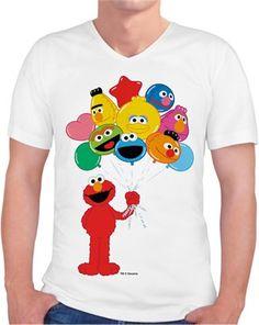 Balonlu Elmo Kendin Tasarla - Erkek V Yaka Tişört